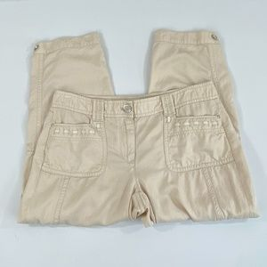 WHBM Cropped Cargo Pants - Size 8
